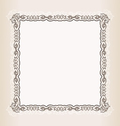 vintage Square frame retro pattern ornament vector image vector image