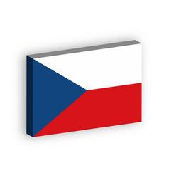 3d flag czech republic vector