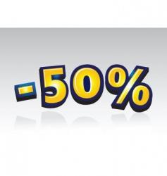 50 percent reduced vector