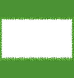 a green grass frame vector image