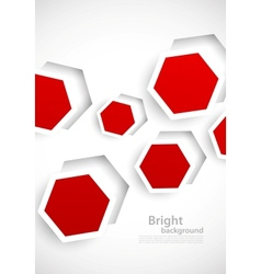 Abstract background with red hexagons vector image
