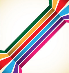 abstract colorful stripes lines element vector image