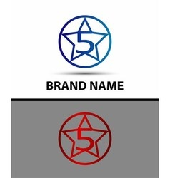 Abstract icons for number 5 logo vector