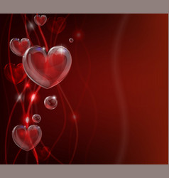 Abstract valentines day heart background vector