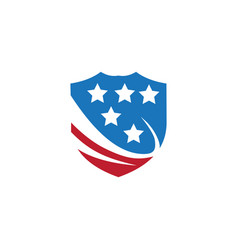 american shield image vector image