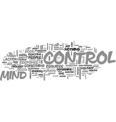 Are you under mind control why not text word vector