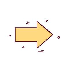 arrow right direction icon design vector image