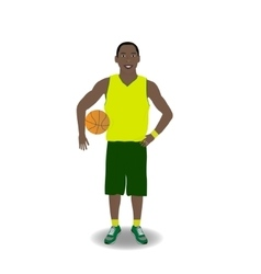 Basketball-player with ball vector