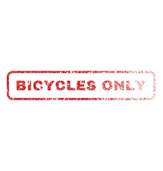 bicycles only rubber stamp vector image