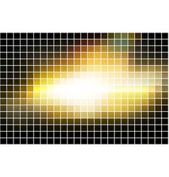 Black yellow white square mosaic background over vector