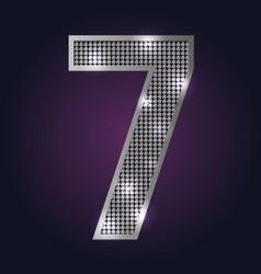 Blink number 7 vector