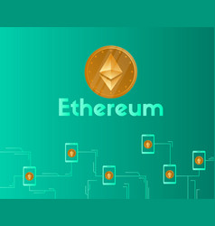 blockchain ethereum cryptocurrency concept vector image