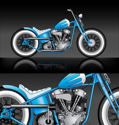 Blue custom bobber on black background vector