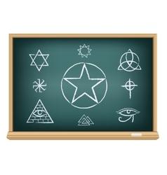 Board magic symbol vector