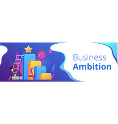 Business ambition concept banner header vector