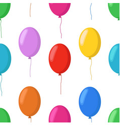 cartoon balloons seamless pattern party vector image