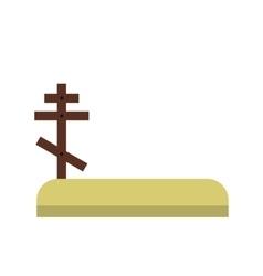 Cemetery icon flat vector image