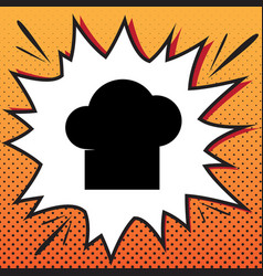 chef cap sign comics style icon on pop vector image