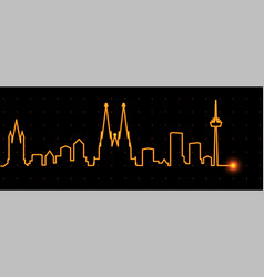 cologne light streak skyline vector image
