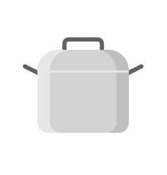 cooking steel pot icon flat design isolated vector image