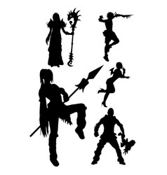 Cosplay silhouette vector