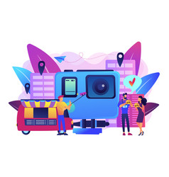 Culinary tourism concept vector