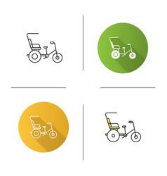 Cycle rickshaw icon vector
