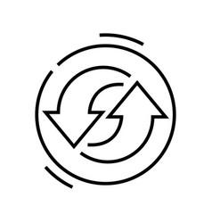 Cyclic process line icon concept sign outline vector