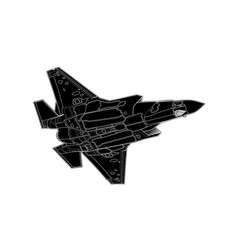 draw of modern american jet fighter vector image