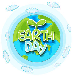 earth day concept poster vector image