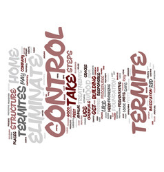 Eliminate termite control text background word vector