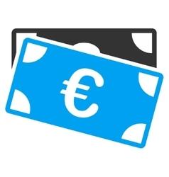 Euro Banknotes Icon vector image
