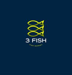 fish market logo seafood restaurant emblem vector image