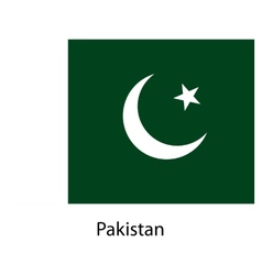 Flag of the country pakistan vector