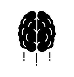 flying human brain glyph icon vector image