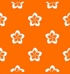 Frangipani flower pattern seamless vector