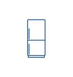 fridgerefridgirator line icon concept fridge vector image
