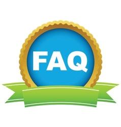 Gold faq logo vector