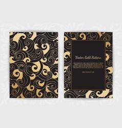 gold vintage greeting card on a black background vector image