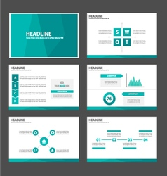 Green Polygon presentation templates Infographic vector