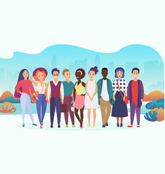 group happy people or company team in casual vector image