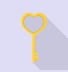heart key icon set of great flat icons with vector image