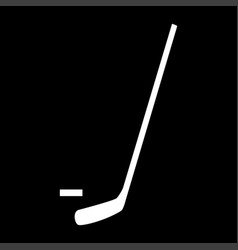 Hockey sticks and puck the white color icon vector