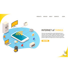 internet things landing page website vector image