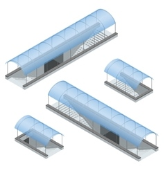 Isometric pedestrian subway under the highway vector image
