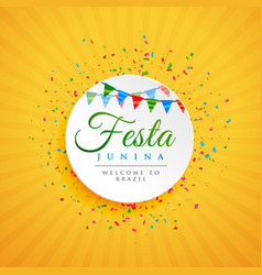 June festival of brazil festa junina background vector