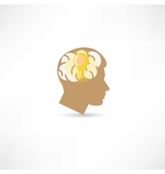 man with idea icon vector image