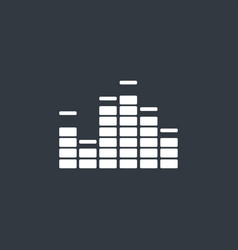 Music equalizer icon vector