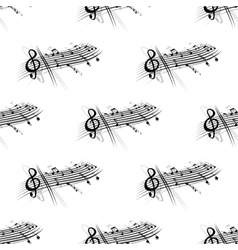 Music score and notes background seamless pattern vector image vector image