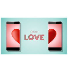 Online dating concept love has no boundaries vector